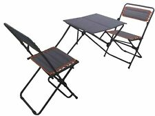 Outdoor Patio Bistro Set Folding Table Chairs Portable Furniture Set Beach Chair