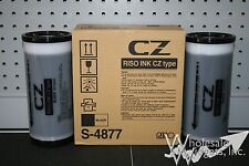 2 Riso Brand S-4877 Black Ink Risograph CZ Type Inks 800ml Kagaku CZ100 CZ180