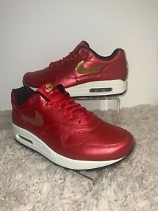 NIKE AIR MAX 1 GOLD SEQUIN WOMENS SZ 9 MODEL CT1149 600 MSRP $120