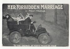 Her Forbidden Marriage Frederick Melville To The Church Theatre Postcard 831b