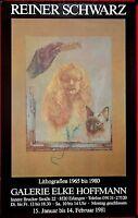 Reiner Schwarz Ausstellungsplakat in Erlangen 1981 # 684
