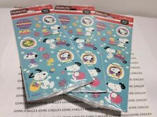 EASTER HALLMARK SNOOPY STICKERS NEW SEALED PLASTIC 3 PACKAGES-90 STICKERS
