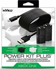 Nyko Power Kit Plus 2 Rechargeable Batteries + Cable Xbox One (86103) - NEW™