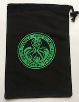 extra large cthulhu bag for dice, tiles, tokens, stationary/note books 29x20 cm