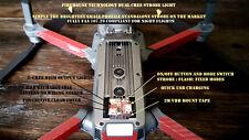 DRONE DUAL STROBE LIGHT DRONE RC DJI INSPIRE 1 2  PHANTOM MAVIC SPARK AIRCRAFT