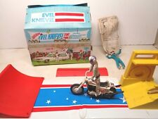 Vintage Evel Knievel Stunt Stadium Ramp Bike  Launcher IDEAL Toy 70s Lot, Toys!!