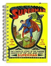 SUPERMAN DC COMICS A5 ANELLO TENUTA NOTEBOOK-rigida-pagine FODERATO