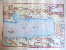 """GOLPHE DE GRIMAUT"" 1634 / GRAVURE AQUARELLÉE DE NICOLAS TASSIN"