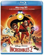 Disney Pixar Incredibles 2 3D + 2D Blu-ray PREORDER