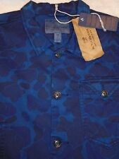 Scotch & Soda Indigo Blue Floral Camo Pattern Over-shirt shirt NWT Large $258