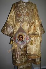 TO ORDER: Orthodox Bishop Vestments Metallic Brocade with Embroidery, Gold