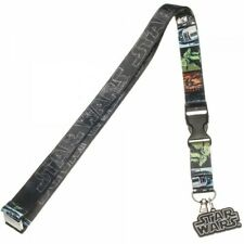 Star Wars Logo Lanyard with ID Holder & Charm New