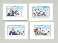 Sierra Leone 1991 Brandenburg Gate 4v Imperf Essays on Cards