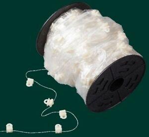 Wellengleiterkordel, weiß, 6 mm Schienen, 8 cm Gleiterabstand / Aufmachung 5 m