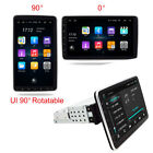 """1 DIN Rotatable 10.1"""" Touch Screen Android 9.0 Car Stereo Radio GPS Mirror Link"""
