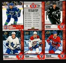 2019-20  2020 Upper Deck National Hockey Card Day Canada 17 Card Complete Set