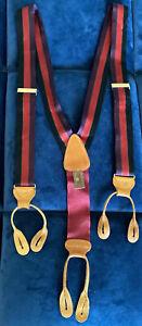 Trafalgar Limited Edition Silk Braces   Suspenders   RARE Purple , Black And Red