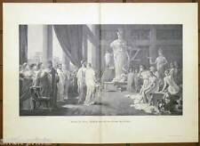 Perikles - Atelier des Phidias - großer Holzstich n. Hector Leroux um 1895