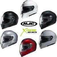 HJC i90 Helmet Solids Flip up Modular Inner Shield Glasses Pinlock Ready XS-5XL