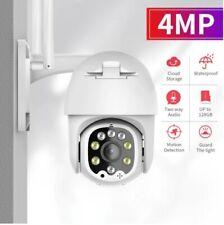 UK 4MP WIFI IP Camera Wireless Outdoor CCTV HD PTZ Smart Home Security IR Cam