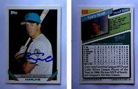 Gary Scott Signed 1993 Topps #656 Card Florida Marlins Auto Autograph