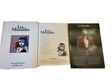 Les Miserables Souvenir Program and Synopsis Insert - ANDREA McARDLE 1988