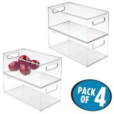 mDesign Refrigerator and Freezer Storage Organizer Bins for Kitchen - Pack