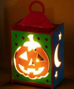 Halloween Wooden Lantern Tealight Holder Craft Kit Christmas Birthday Gift