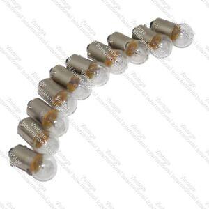 10 x For Royal Enfield Parking Turn Pilot Light Speedo Bulb 12 V-3.4 W @US