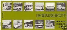 PEUGEOT : catalogue  utilitaires  204   404  J7    1974