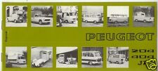 PEUGEOT : catálogo utilitarios 204 404 J7 1974