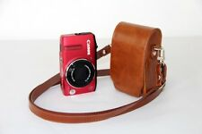 Brown Leather case bag pouch for Canon Powershot ELPH 360HS, 190IS or 180 camera