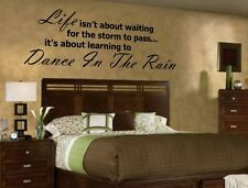 Life...Dance in the RAIN Vinyl Wall Decal/Words/Sticker/Lettering/Quote