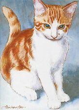 A Watercolour Portrait of Your Cat by Professional Artist Christopher Cole