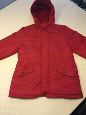 Ralph Lauren Polo Sport Women's Red Down Parka Puffer Coat Jacket Sz Large L