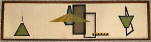 Vintage 50s 60s Textured Geometric Lamp Textile Fiber Art Wall Hanging MCM Art