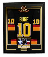 Pavel Bure Vancouver Canucks Autographed Retro Style 35x43 Framed Hockey Jersey