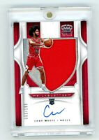 2019-20 Panini Crown Royale Coby White ROOKIE Silhouettes Auto Jersey /199 Bulls
