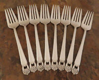 IS Eternally Yours 8 Salad Forks 1847 Rogers Vintage Silverplate Flatware D