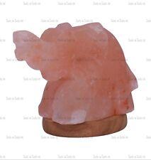 PINK ELEPHANT MULTI COLOR BULB USB LED HIMALAYAN SALT TABLE LAMP NATURAL IONISER
