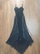 Lip Service Vintage Gothic Witch Gown Dress Dolls Kill Lace Up Corset