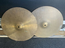 """More details for vintage amati kraslice 14"""" hi hat cymbals #627"""