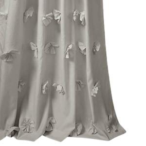 Lush Decor Riley Oeko-Tex 54'' x 84'' Single Ruffle Curtain Panel Gray