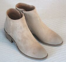 FRYE Women's Carson Piping Bootie Ankle Boot Beige/Multi 7 M Suede Leather