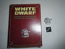 Warhammer Fantasy Battle Dwarf White Dwarf Subscription Only Model 2009 in box