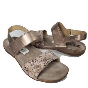 Mephisto women Sandals Ankle Strap Comfort Leather Agave pewter sz 9 40 new