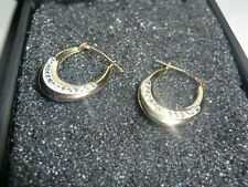 NEW LOVELY 9K YELLOW GOLD EARRINGS WITH CUBIC ZIRCONIA