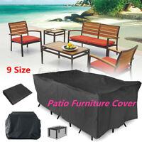 9 Size Heavy Duty Waterproof Outdoor Garden Patio Furniture Cover Table  UK AU!
