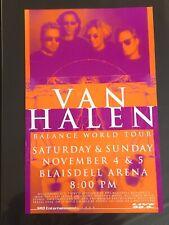 VAN HALEN 1995 ORIGINAL HAWAII CONCERT POSTER