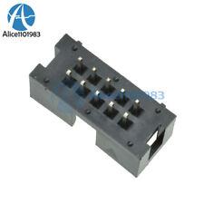 10PCS 2.54mm 10 Pin 2x5 Pin Double Row Straight Male Shrouded header IDC Socket